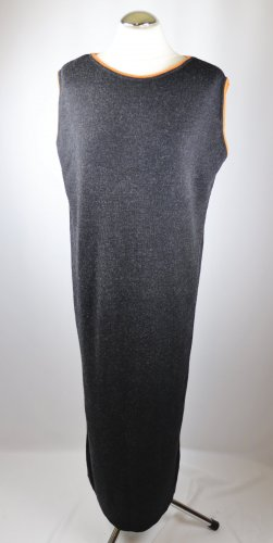 Weich Schlauchkleid Strickkleid Maxikleid Passport Größe L 42 Anthrazit Grau Orange Strick Kleid Wolle Basic