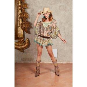 Antica Sartoria Tunic Dress multicolored