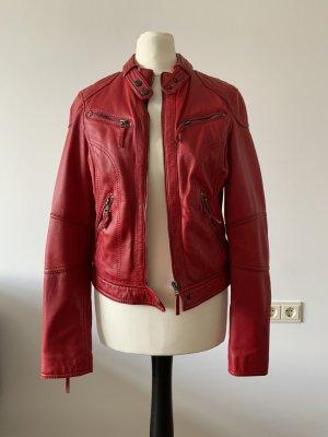 Oakwood Leather Jacket brick red leather