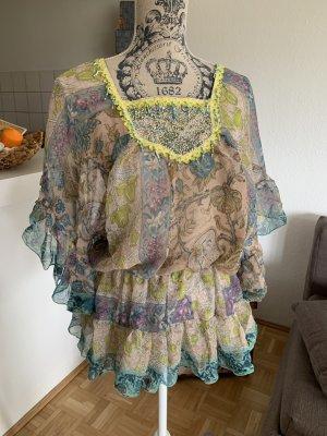 Weiche(s) Italy Tunika/Kleid - FreeSize - Green/Beige - Pailletten