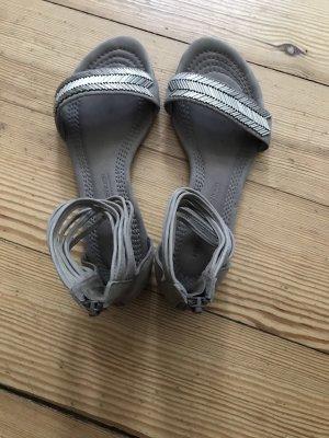 Weiche Sandalen Echtleder mit Silberdetail