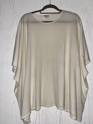Lala Berlin Knitted Poncho natural white wool