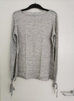 Weicher Basic-Pullover in Grau