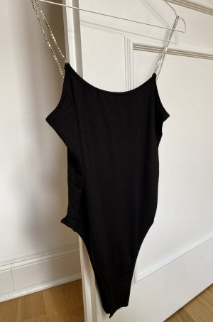 Urban Outfitters Basic Bodysuit black-silver-colored