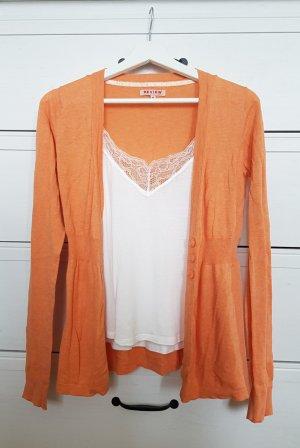 Weicher Cardigan Apricot Pfirsich Orange