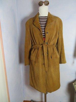Vintage Manteau en cuir cognac cuir