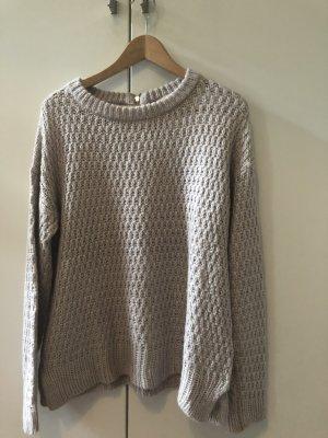 Esprit Sweter z grubej dzianiny szaro-liliowy