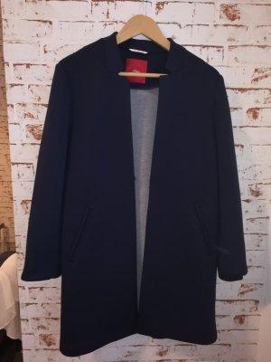 s.Oliver Short Coat dark blue cotton