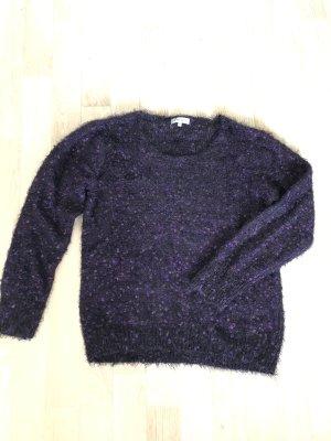 Polarowy sweter ciemny fiolet