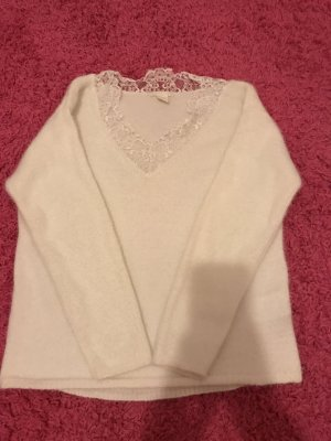 H&M Crochet Sweater white-cream