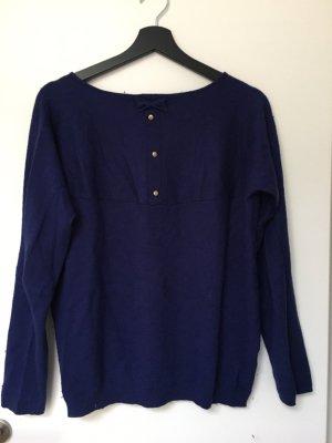 Promod Sweter z okrągłym dekoltem ciemnoniebieski-niebieski