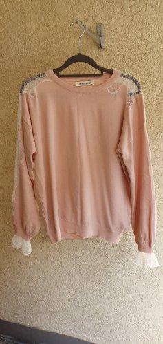 Weicher Pullover mit Spitzen-Details Größe S/M