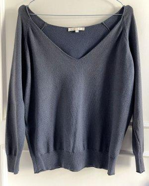 Maje V-Neck Sweater slate-gray