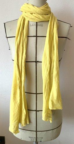 Majestic Silk Scarf pale yellow linen
