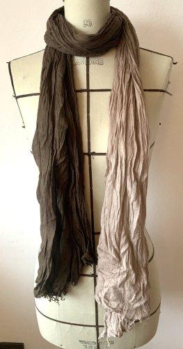Witty Knitters Crinkle Scarf light brown-dark brown modal fibre
