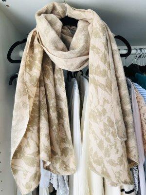 Bijou Brigitte Sciarpa lavorata a maglia beige-rosa antico