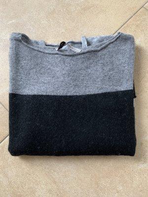 Be Tween Cienki sweter z dzianiny srebrny-czarny