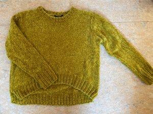 mbyM Pull tricoté jaune citron vert