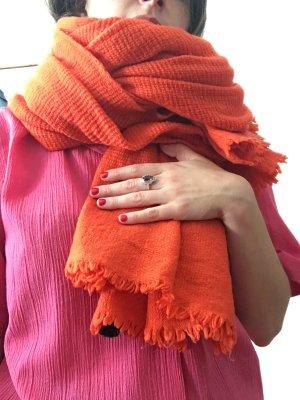 Mia Zia Sciarpa di lana arancio neon