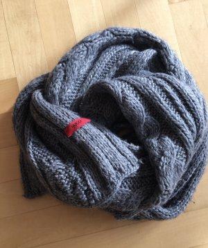BOSS HUGO BOSS Bufanda de lana gris lana de alpaca