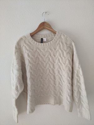 H&M Cable Sweater oatmeal