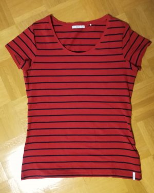 Esprit Gestreept shirt rood-donkerblauw
