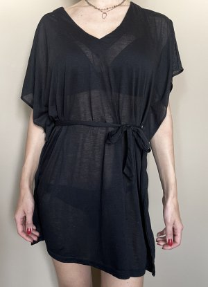 H&M Beach Dress black cotton