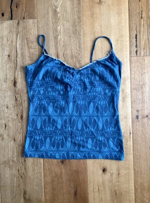 Weiches Top Baumwolle türkis blau