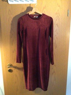 24 colours Robe à manches longues bordeau-rouge carmin polyester