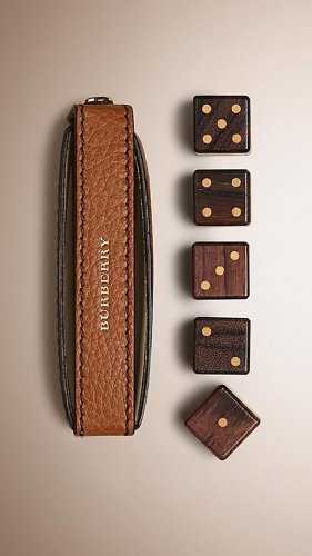 Weihnachtsgeschenk! Leather Dice Set With Case | Burberry