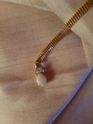 Weihnachtspreis Anhänger 333er Gold mit weißen Opal ohne  Kette