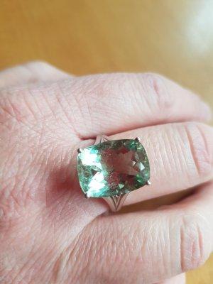 Weihnachtspreis Grüner Amethyst Silberring