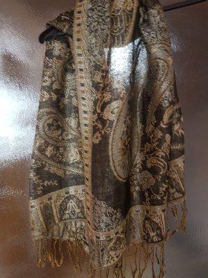 Antonio Fusco Sjaal met franjes veelkleurig Wol