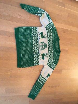 Pull de Noël vert