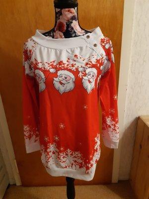 Sudadera navideña blanco-rojo