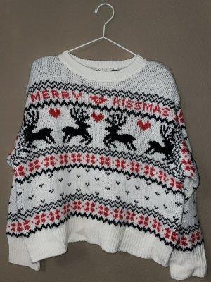 H&M Pull de Noël blanc