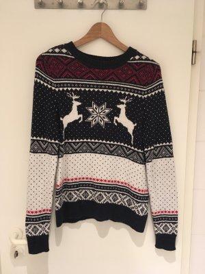 Weihnachtspullover mit Alpaka von H&M in Größe 38 (S)