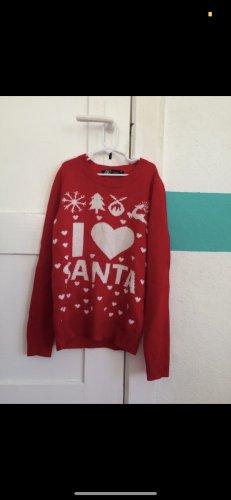 Ann Christine Szydełkowany sweter czerwony-biały