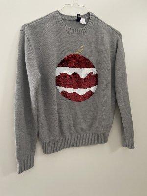 H&M Pull de Noël gris-gris clair