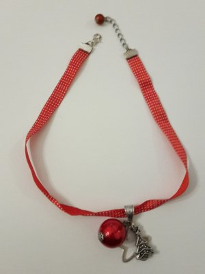 Necklace red-brick red