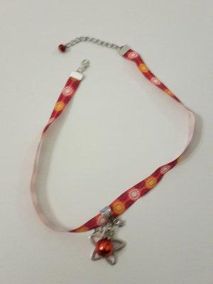 Weihnachtsschmuck Kette Halsband rot Sterne Kugel