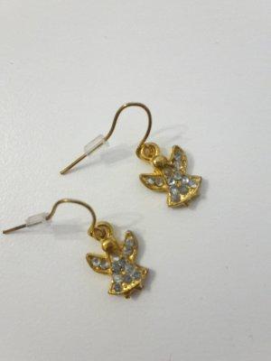 Weihnachtsschmuck Ohrhänger goldene Engel Strasssteine