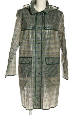 Weill Manteau de pluie kaki-blanc cassé motif à carreaux style décontracté