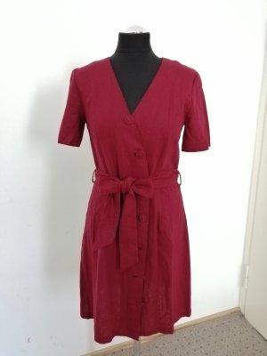Mango Sukienka midi głęboka czerwień