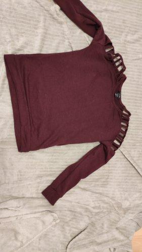 Wein-Roter Schulterfreier Pullover