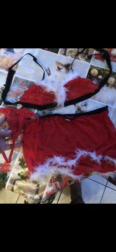 Lingerie Set white-dark red