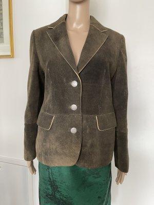 Veste bavaroise multicolore cuir