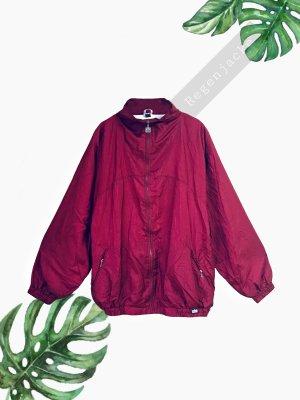 Weinrot Bordeaux Bomberjacke Jacke regen Jacke dünn oversized unisex trigema | Vintage | XL