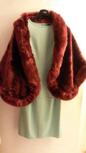 Mantella marrone-rosso-bordeaux Tessuto misto