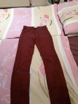 Five-Pocket Trousers bordeaux